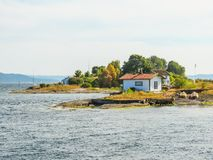 Small island in the Oslo Fjord, Norway Royalty Free Stock Photography