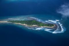 A small island. Photographed from the plane Stock Photography