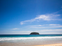 Small island in phuet. Small is land on the beach in phuket, thailand Stock Images