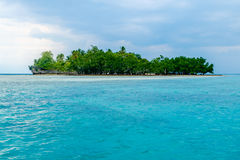 Small island in Samal - Davao. With clear and beautiful blue water Royalty Free Stock Image