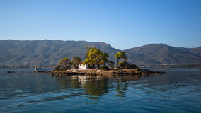 Small island in the Saronic Gulf, Greece. Nature. Royalty Free Stock Image