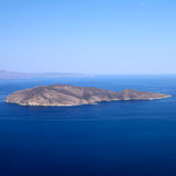 Small island in the sea stock photos