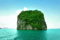 Small island in the sea Royalty Free Stock Photo