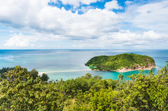 Small island in the sea near Koh Phangan in Thailand Stock Images