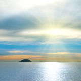 Small island in the sea. Stock Photography