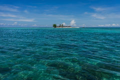 Small island. A shot of a small tropical island in the coast of Sabah Malaysia Stock Photography