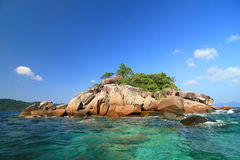 Small Island in South of Thailand. Small Island near LIPE island in South of Thailand Stock Photo