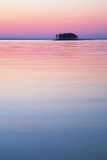 Small island at sunset Royalty Free Stock Photos
