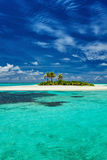 Small island surrounder by reef and beach in Maldives Stock Photography
