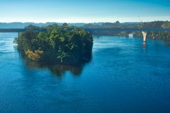 Tennessee River island Royalty Free Stock Photos