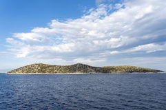 Small island Thassopoula near to Thassos in north Aegean sea Gre Royalty Free Stock Image
