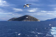Small island Thassopoula near to Thassos in north Aegean sea Greece stock images