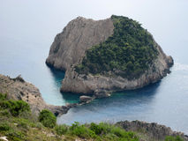 Small island on the way to Selina beach, Zante island Stock Photos