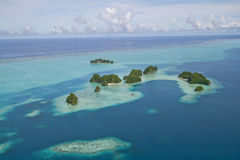 Small islands around palau Stock Photography