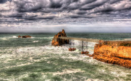 Small islands in the Atlantic Ocean near Biarritz Stock Photo