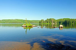 Small islands in canoe country Royalty Free Stock Photography