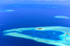 Small islands in the Maldives Stock Images