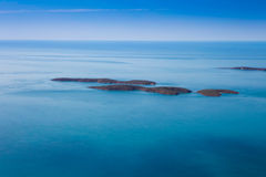 Small islands off the coast of Western Australia. Royalty Free Stock Images