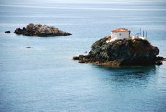 Small islands in the sea Royalty Free Stock Photos