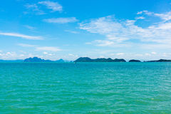 Small islands seascape panorama in Thailand Stock Image