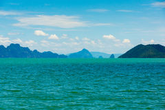 Small islands seascape panorama in Thailand Stock Photography