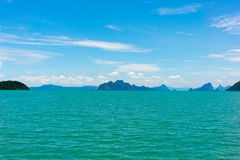 Small islands seascape panorama in Thailand Royalty Free Stock Photo