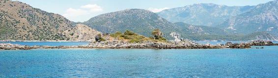 Small isle panorama in Turkey Stock Photo