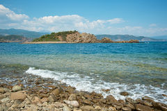 Small isle panorama in Turkey Royalty Free Stock Photo