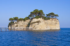 Small islet Agios Sostis Royalty Free Stock Image