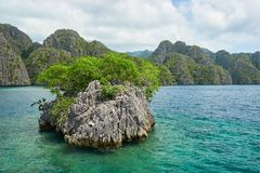 A Small Islet Near Coron Island, Philippines Stock Photo