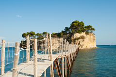 Small islet  on Zakynthos. Royalty Free Stock Images