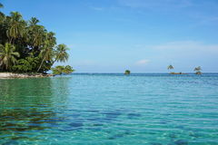 Small islets close to tropical island in Panama Royalty Free Stock Photos