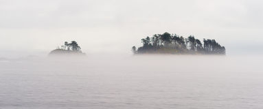 Small Isolated Islands Inside Passage Cruise Canadian Waters Stock Image