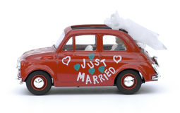 Small Italian Car. Isolated on white Royalty Free Stock Photos