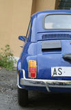 Small Italian car. Rear end of small, blue Italian car, Fiat 500L Stock Photography