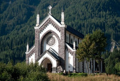 Small Italian church - Dolomites, Italy Stock Photos