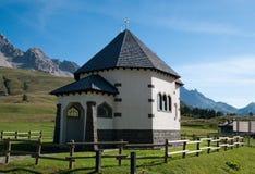 Small Italian church - Dolomites, Italy royalty free stock photography