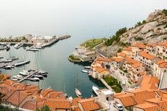 Small italian marina Stock Images