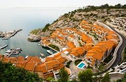 Small italian marina Royalty Free Stock Photos