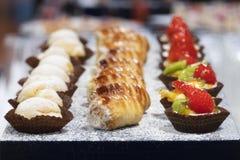 Small italian pastries stock photos