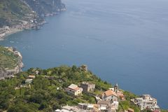 A small Italian town the Amalfi coast Ravello Stock Photos