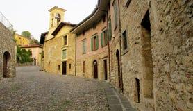 Small italian town ancient street Royalty Free Stock Photos