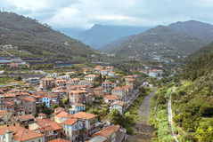 Small italian town in Liguria Stock Photos