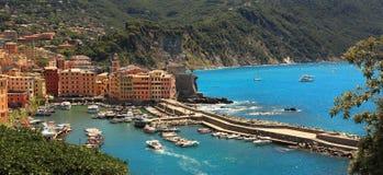 Small italian town on Mediterranean Sea. Royalty Free Stock Photos