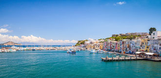 Small Italian town panoramic cityscape, Procida Stock Images