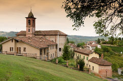 Small Italian village with church Stock Image