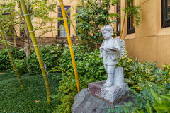 A small japanese style garden at International Manga Museum in Kyoto Stock Image
