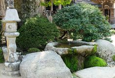 Small Japanese Style Garden Royalty Free Stock Image
