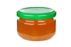 Small jar with honey Royalty Free Stock Photos