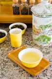 Small jars of dry tea Stock Image